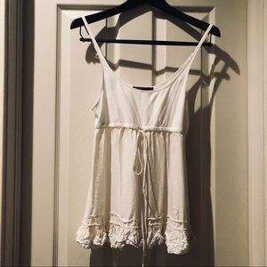 BCBG ivory colored tank top size small